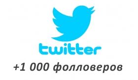 Накрутка +1000 фолловеров в Twitter