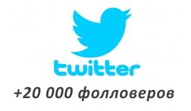 Накрутка +20 000 фолловеров в Twitter
