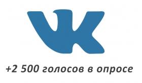 Накрутка +2500 голосов Вконтакте