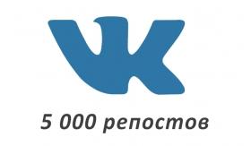5000 репостов Вконтакте