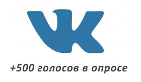 Накрутка +500 голосов Вконтакте