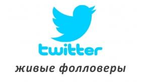 Накрутка живых фолловеров в Twitter
