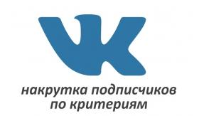 Накрутка подписчиков Вконтакте